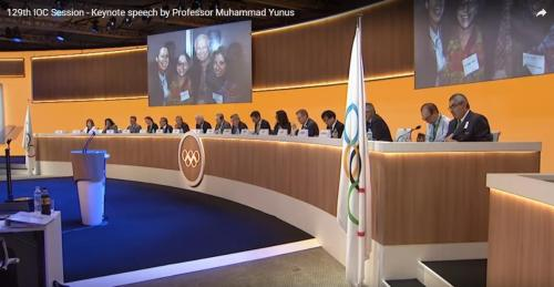 yunus 2 olympics speech